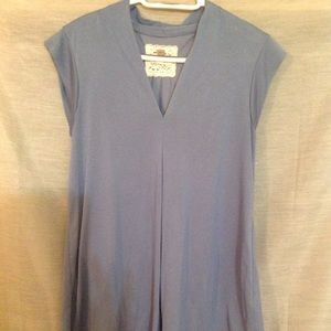 Cupio sz L blue blouse